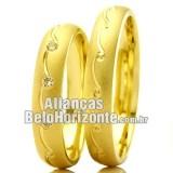 Aliança de ouro casamento...