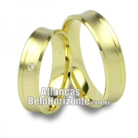 Alianças de casamento e noivado 18k 750 Belo Horizonte
