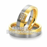 Aliança de noivado em ouro 18K BH