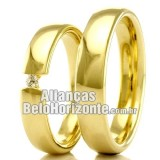 Alianças em ouro 18k 750 Bh