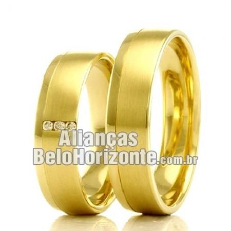 Alianças de casamento lisas Belo Horizonte