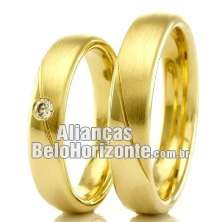 Alianças  em ouro para casamento Belo Horizonte