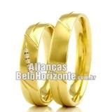 Alianças Bh em ouro 18k
