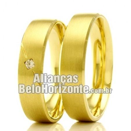 Alianças Belo horizonte em ouro 18k