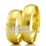 Alianças Bh para casamento em ouro